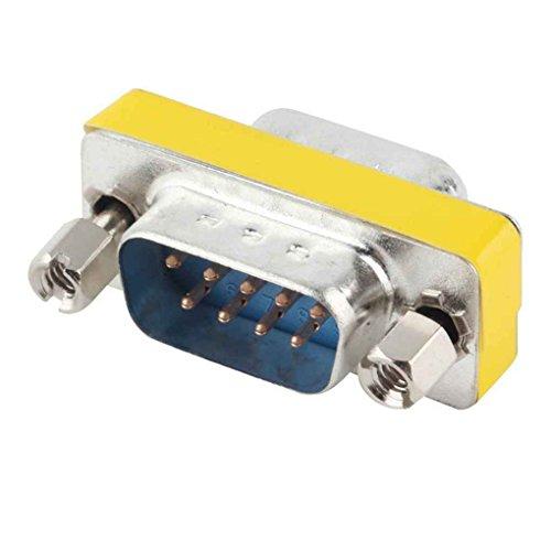 Seriell Rs-232 Gender Changer (Jinzuke 3 x 1,8 x 1.3CM 9 Pin RS-232-Stecker-Stecker DB9 Serielles Kabel Gender Changer Kopplungsadapter)