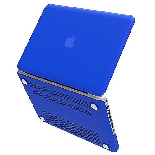 Burgund-gold-finish (iBenzer - Soft-Skin-Serie Kunststoffabdeckung des schweren Kastens für Macbook Pro 13,3'' (A1278) mit CD-ROM, Königsblau MMP13RBL)