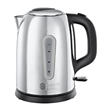 Russell Hobbs 23760 Coniston Kettle, 1.7 Litre, 3000 W, Silver, Stainless Steel, 1.7 liters