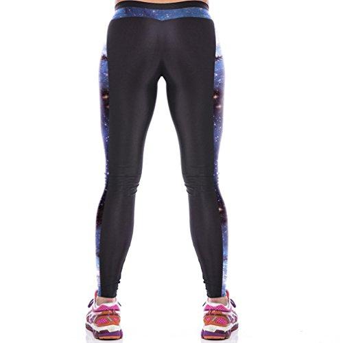 THENICE Damen Sexy Joga Elastic Strumpfhosen Leggings Blue Star