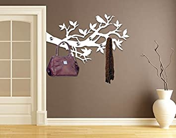 Deko-Wandhaken Vögel auf Ast B x H: 80cm x 48cm: Amazon.de: Küche ...