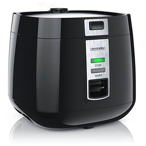 Arendo - Reiskocher | Dampfgarer / Dampfgarerfunktion | 1,4l Kapazität | einfache Bedienung | Überhitzungsschutz + Thermosicherung | automatische Warmhaltefunktion | 540W | wärmeisolierendes Doppelwanddesign