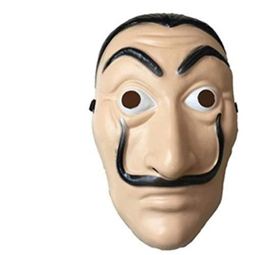maschera dali casa di carta  LDSHOP Maschera Dali Mask Salvador Dali Maschera La Casa De Papel ...