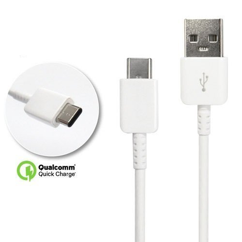 Motorola Authentic Moto Z2 Play USB to Type C Charging and Transfer Cable. (White / 3.3Ft)