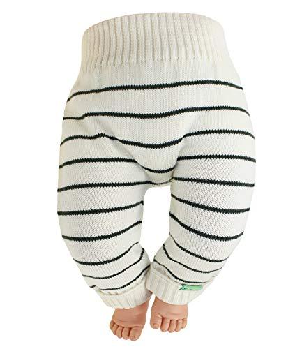 EveryKid Sarian Baby Kleinkind Strickhose Mädchenhose Babyhose Wollhose Kleinkind Strickhose ganzjährig Merinowolle für Babys (SA-SL-1050-W18-BM1-2-50/56) in Natur, Größe 50/56 inkl Fashionguide -