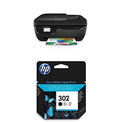 HP Officejet 3831 Multifunktionsdrucker schwarz + HP 302 Schwarz