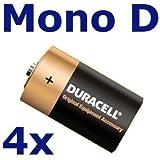 Duracell OEM Alkaline Batterie MN1300 Mono D, 4 Stück