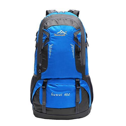 Imagen de deportiva bolsa  bolsos  impermeable 60l al aire libre de excursión de deporte montaña acampada ciclismo  azul, 61 x 37 x 21 cm