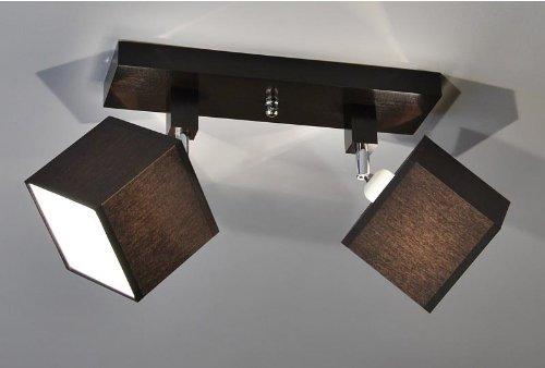 Designer Decken Leuchte Lampe Retro Spot Strahler Salon Bar Theke E27 Power LED New York 9 (Sockelfarbe: Wenge)