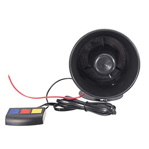 Sounds Laute Sirene Hupton Warnung Alarm Verstärker Lautsprecher Megaphon 115db w/Mikrofon Für Auto Motorrad Boot LKW ()
