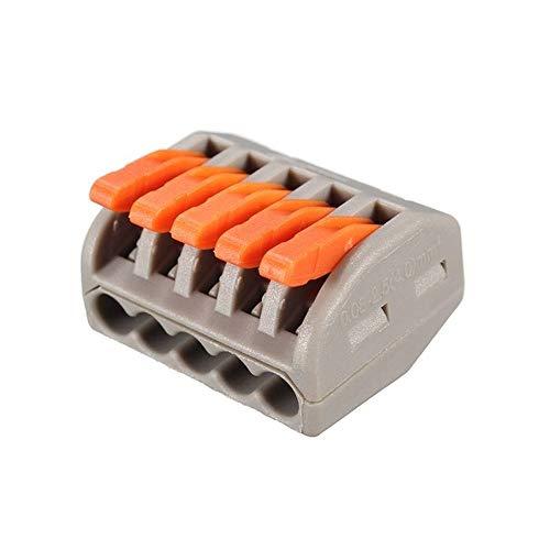 Fesjoy Verbindungsklemme, 2/3/4/5/8 Leiter-Klemme Terminal Block Wire Push Kabelverbinder mit Betätigungshebel