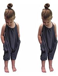SHOBDW-Pantalones de los pantalones del moda mono de los mamelucos de las correas de los bebés del cabrito del niña