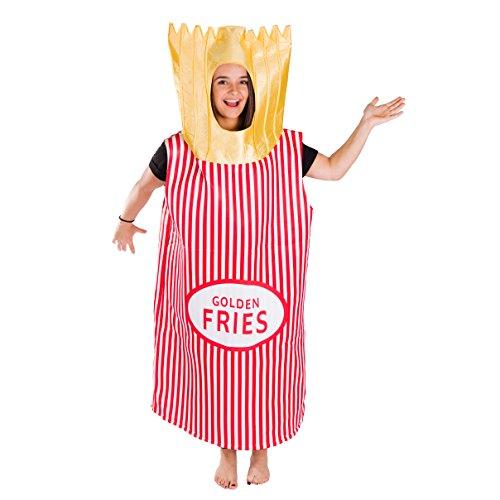 Lebensmittel & Getränke Kostüm für Erwachsene (Erwachsene Pommes Für Kostüm)