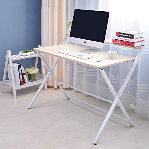 YY&L Table D'ordinateur Portable De Bureau Portable La Maison Table Pliante, Bureau Amovible Enfants À La Maison Facile À Plier Intérieur Extérieur (Noir),Maple,100Cm