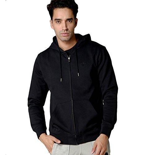 adidas Herren Originals Premium Essential Full Zip Hoodie (schwarz, S) - Retro Full Zip Hoodie