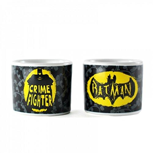 DC Comics - Batman - Keramik Eierbecher 2er Set - Logo + Crime Fighter - ()