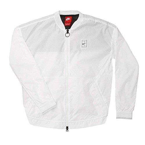 Nike Oberkörper Bekleidung Court Bomber Jacket Limited Edition, Weiß, XS, 715225-100