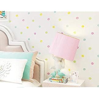 Habitación infantil niña corazón papel pintado autoadhesivo pegatinas decorativas niño moderno dormitorio minimalista hogar tela no tejida