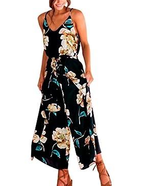Monos Mujer Verano 2018 Fiesta Elegantes Casual PantalóN Largo Lady Sling Floral Sling Playsuits Talla Grande