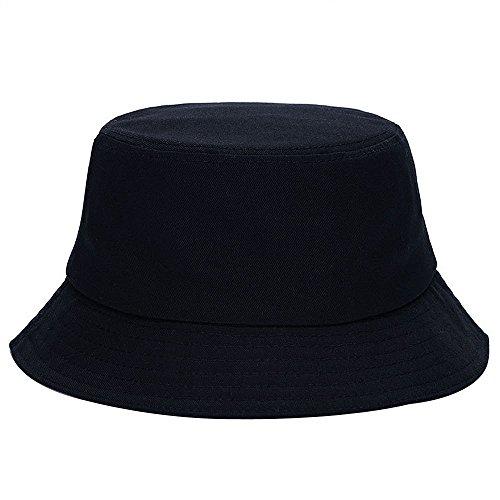Kangqifen Unisex Außensonnenschutz-Hut Lässige Fisherman Cap Bucket Hats schwarz