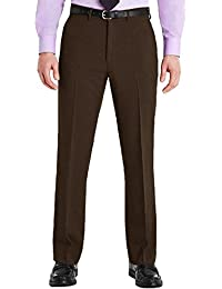 7e8f5a5f9daf5 Mens Trousers Formal Office Smart Belted Casual Big Plus Size Free Belt  Pocket Dress Pants Straight Leg Bottoms…