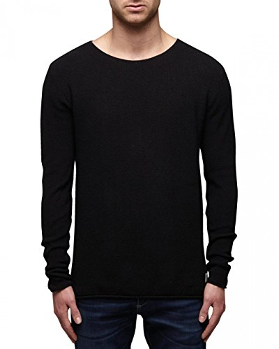 JACK & JONES ORG KNIT CREWNECK-T-shirt Uomo Weiß (Cloud Dancer 11-4201 TCX)