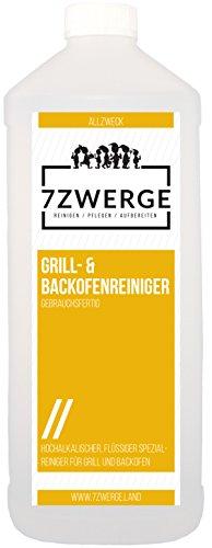 7Zwerge Grill und Backofenreiniger mit Sprühkopf - Grillreiniger (1 x 1000 ml)