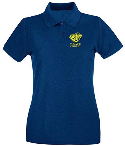 T-Shirtshock - Polo Donna FUN0141 06 06 2013 Summer Is Coming T SHIRT det2, Taglia S