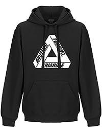 Another F cking triangle haut à capuche - barbu hipster skate palace capuche en noir