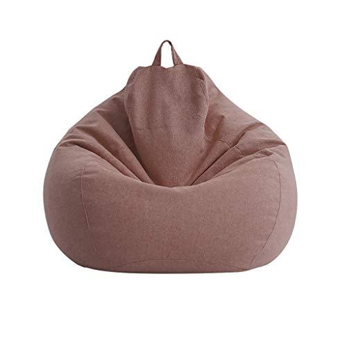 YXNN Portable Bean Bag Chair - Indoor Outdoor Lazy Couch Spiel Für Erwachsene Freizeit Lounge Chair Soft Designer Chair Bodenmatte Leicht Zu Reinigen Abbaubare EPS-Füllung 90x110cm (Farbe : Braun) (Osmanischen Outdoor-der Modernen)