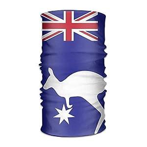 RGFJJE Sturmhauben Australia Flag Kagroo Quick Dry Microfiber Headwear Outdoor Magic Bandana Neck Gaiter Head Wrap Headband Scarf Face Mask Ultra Soft Elastic Handscarf