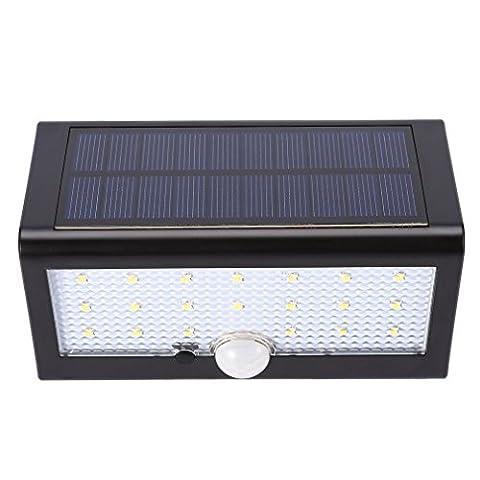 20LED Lampe Solaire Jardin sans fil ICOCO Lampe Etanche IP55 Luminaire Mural Economie d