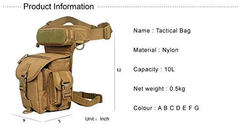 Professionelle Drop Utility Oberschenkel Tasche Mehrzwecktaschen Military Taille Pack Waffen Taktik Outdoor Sport Ride MOLLE Bein Tasche Khaki