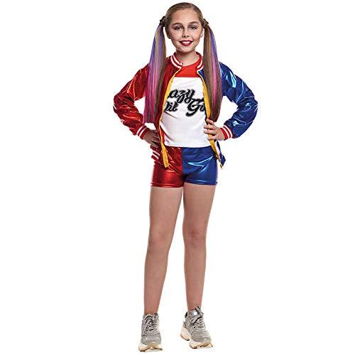 Partilandia Kostüm Joker Baby Kind Mädchen für Karneval 10-12 Jahre