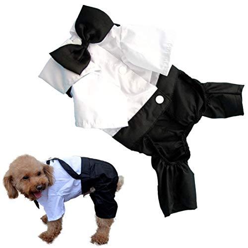 InSense Dog Shirt, 2015 Summer Pet Puppy Cat Wedding Tuxedo Bow Tie Suit Clothes Jumpsuit Shirt Jumpsuit (XL) -