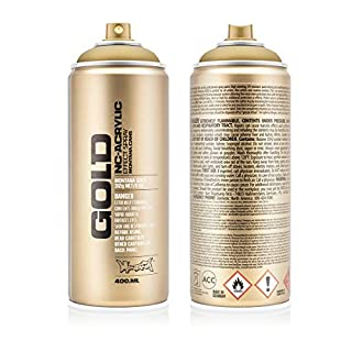 Montana Cans 369759 Spray Dose Gold 400ml, Gld400-m3010-Gold Metallic