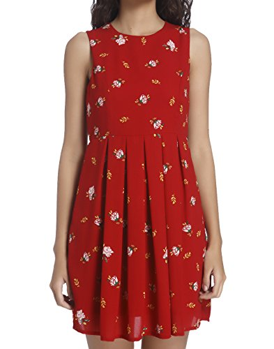 Vero Moda Women's Skater Dress (10184659_Lipstick Red_Small)