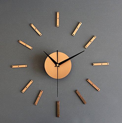 he DIY hängende Uhr Art und Weise Kreativer DIY Taktgeber-Kombinations-Taktgeber Selbstklebende Taktgeber-hölzernes Retro- Pastoral ( Farbe : Metal Gold ) (Gold-farbe-kombination)
