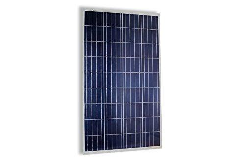 Pannello solare fotovoltaico celle silicio 100 w watt 12v pinze batteria