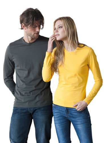 Figurbetontes Langarm T-Shirt Beige