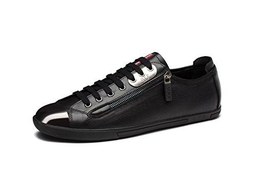 Chaussures de Ville A Lacets en Cuir Mode Sneakers Basses Homme