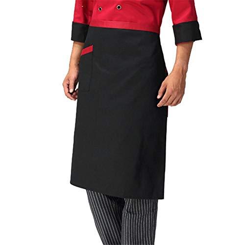 Rejoicng 2 Pezzi Grembiuli da Cuoco Regolabile Mezza Corpo Maschio Grembiule  Adulto a Righe Hotel Restaurant ef0b46ed8cfe