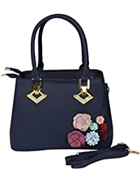 Prepoy Trendsetter Exclusive Imported Leather Ette Hand Bag For Womens Hand Bag (Blue)