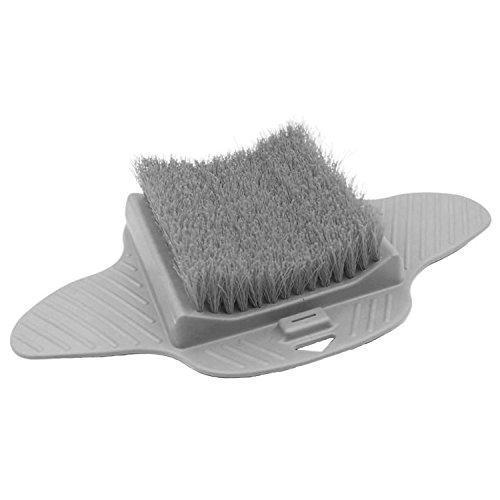 SODIAL Peeling Borsten Fuesse Reiniger Scrub Massage Spa fuer Dusche Hangable Scrub Pad (grau) (Bein-luft Massager)