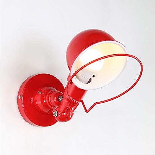Lámparas de pared de hierro industrial, 360 ° Ajustable Negro/Rojo/Blanco Iluminación de...