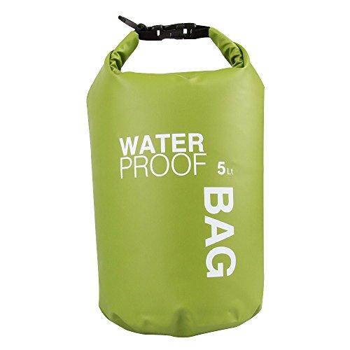Eizur 2L/5L/10L/15L Sacca Impermeabile in PVC Rafting Bag Campeggio Borse Impermeabili Waterproof Bag Rafting Bag Secco Borsa per Outdoor Floating Attività all'Aperto e Sport d'Acqua - Borsa Di Tenuta Nastro