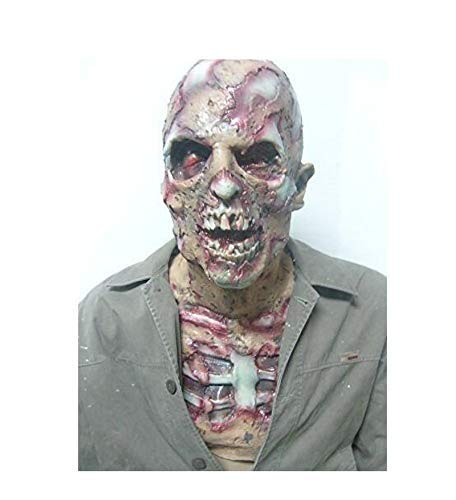 Mädchen Kostüm Dead Walking - XBYUK Handgemachte Horror Zombie Vollkopf Latex Maske Walking Dead Halloween Kostüm Party Gruselige Maske