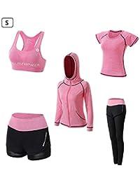 3af4643816d heresell Femmes 5 Pièces Ensembles Sportswear Costumes De Sport Gym Yoga  Athletisme Fitness Jogging…