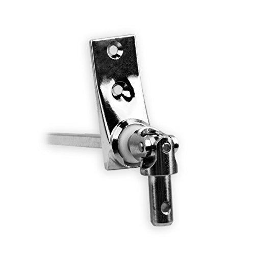 Grundplatte 22 x 85 mm mit 2 Befestigungsl/öcher Antrieb zum Rolladengetriebe 8 mm Vierkant. DIWARO./® Kurbelzapfen Anschluss 11,9 mm Rolladen Gelenklager G068 45 Grad Umlenkung