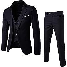 OEAK Costume Mariage 3 Piece Homme Un Boutons Mode Slim Fit Elégant  Business Manches Longues fb8e72e3c87